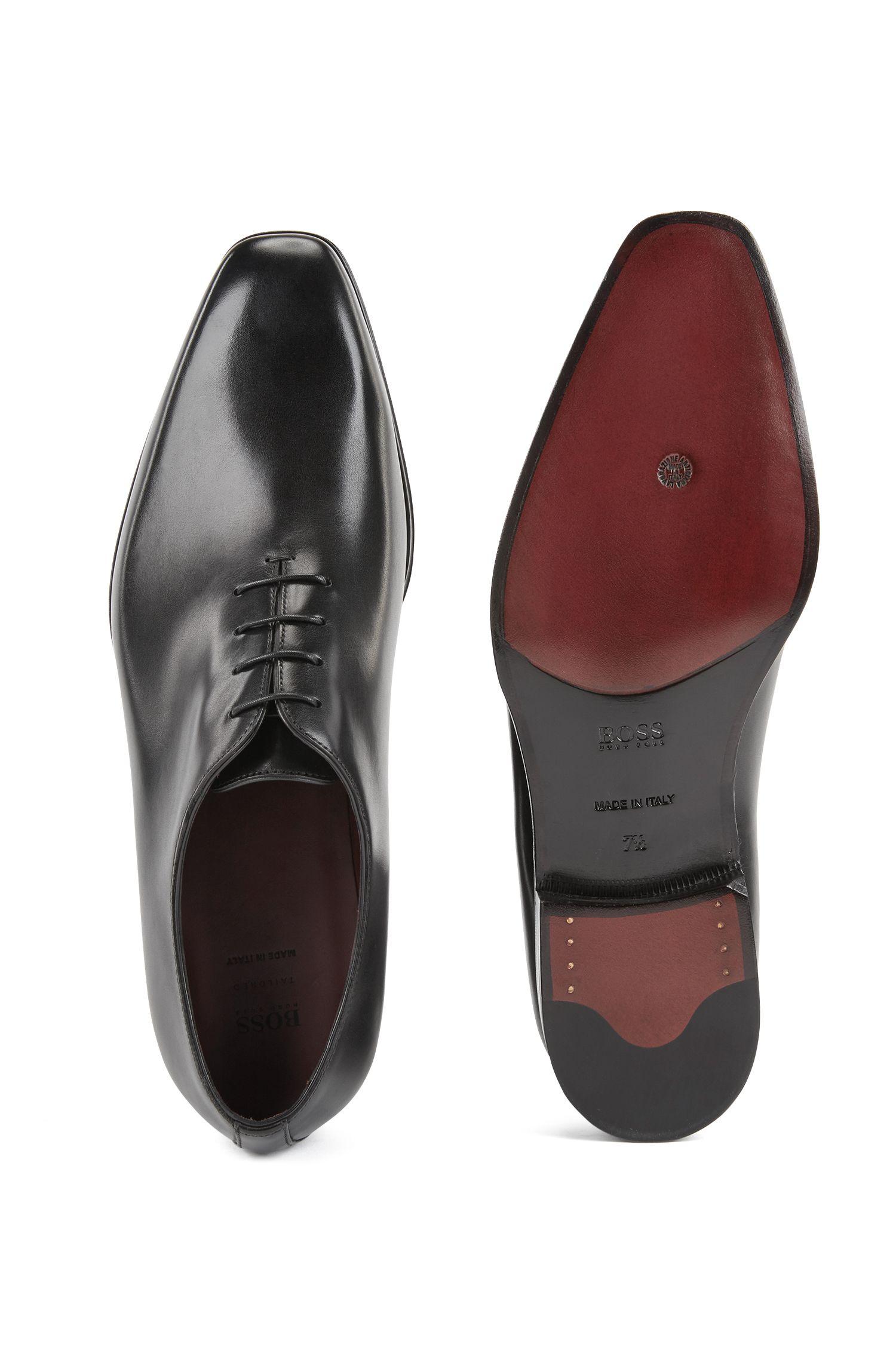 Chaussures Oxford en cuir de veau poli