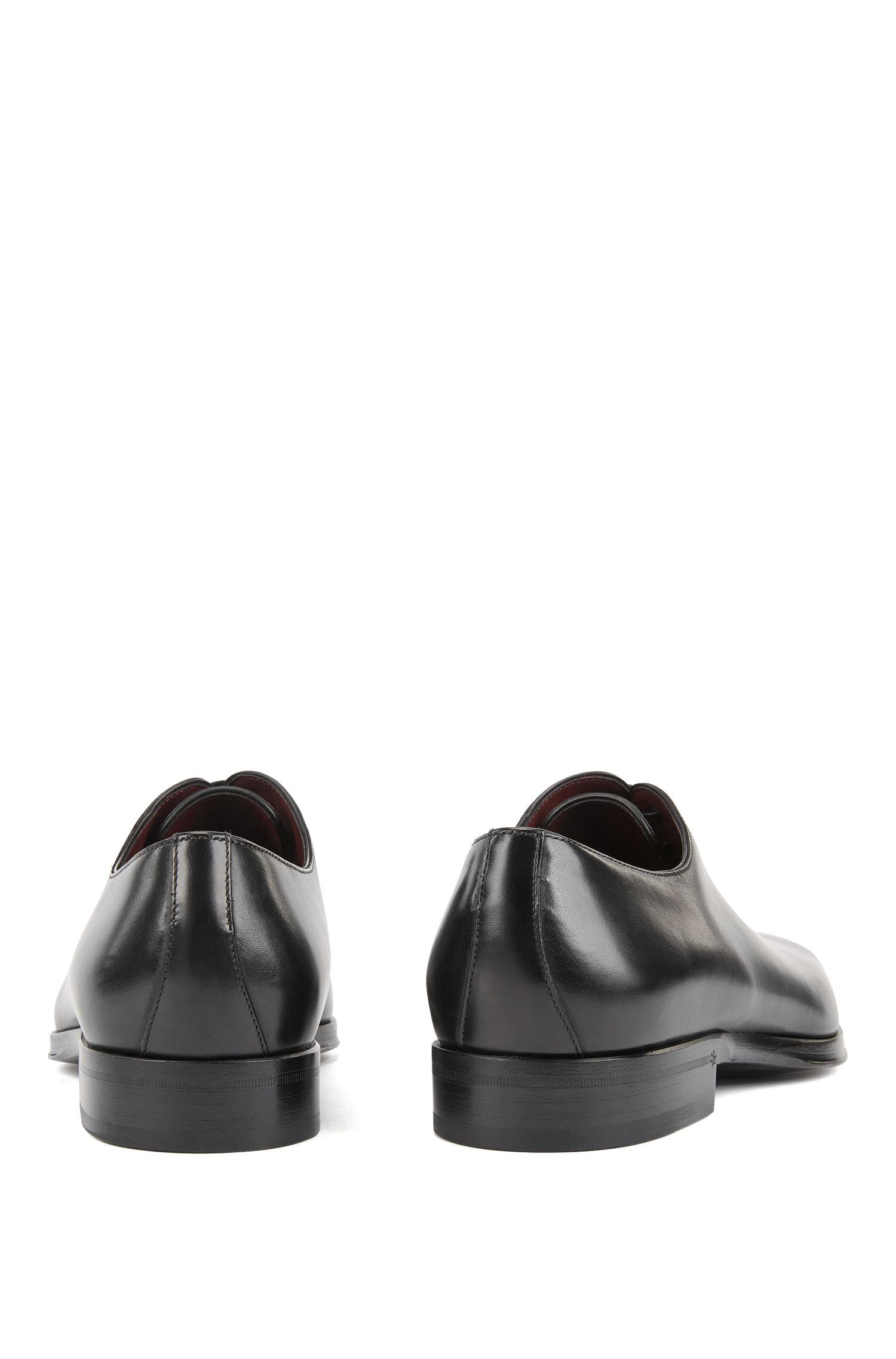 Scarpe Oxford in pelle di vitello brunita, Nero