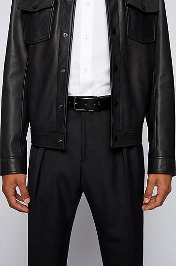 快卸扣双面皮革腰带,  002_Black