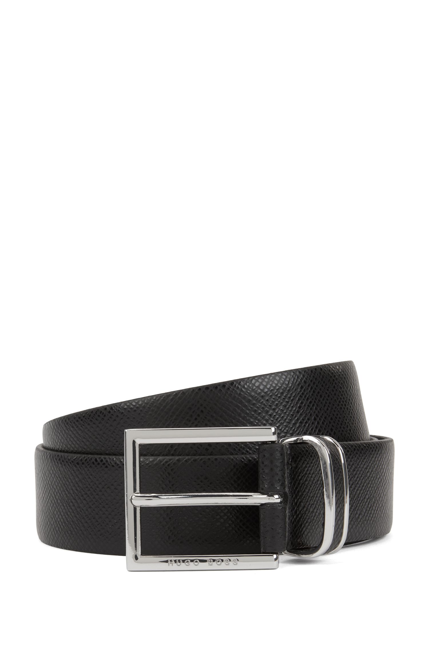Signature Collection belt in embossed calf leather