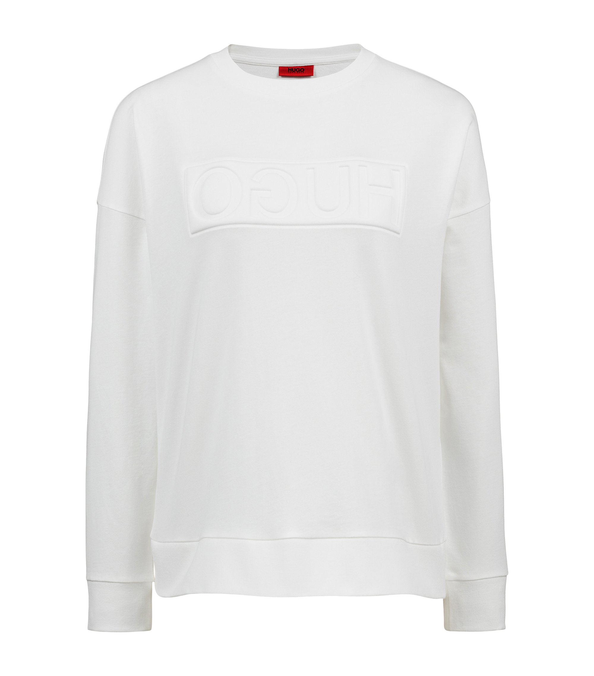 Sweatshirt aus French Terry mit Reversed-Logo, Natur