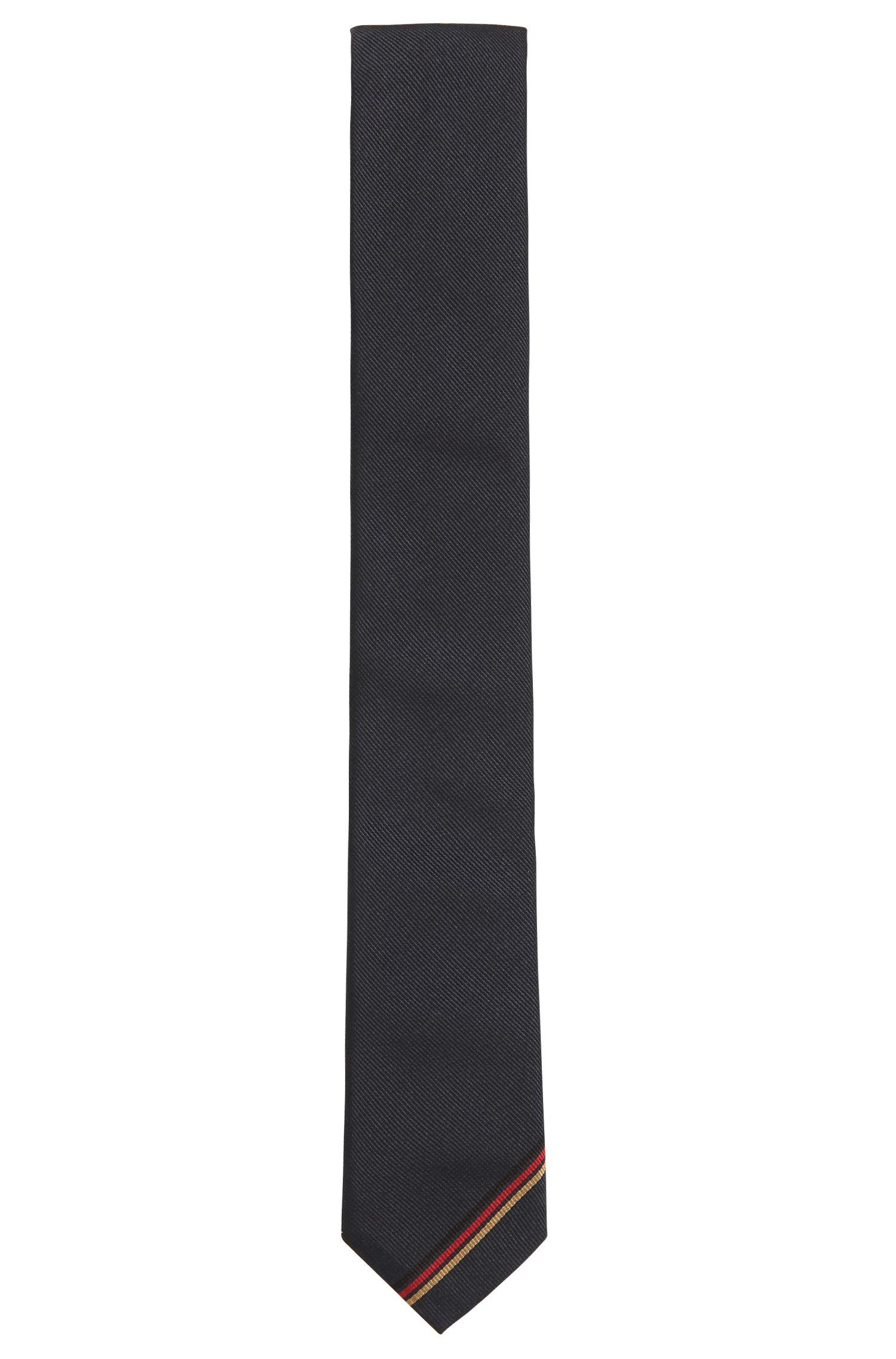 Krawatte aus Seide mit deutscher Flagge, Dunkelblau