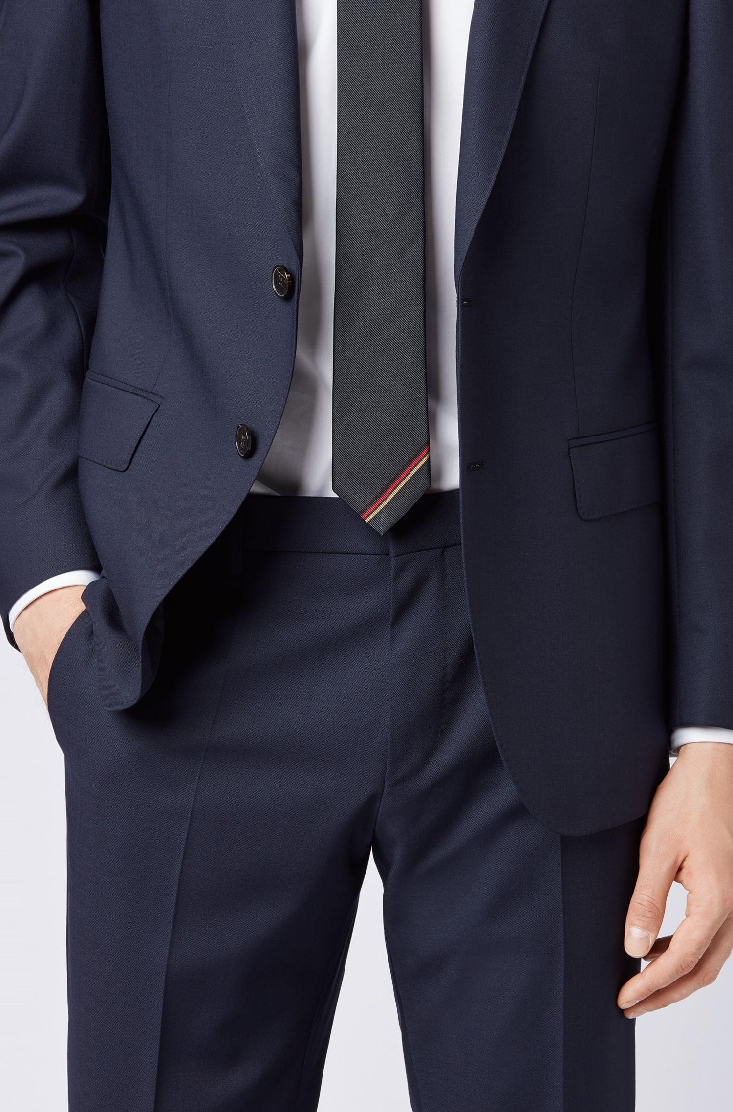 Silk tie with German flag detail BOSS