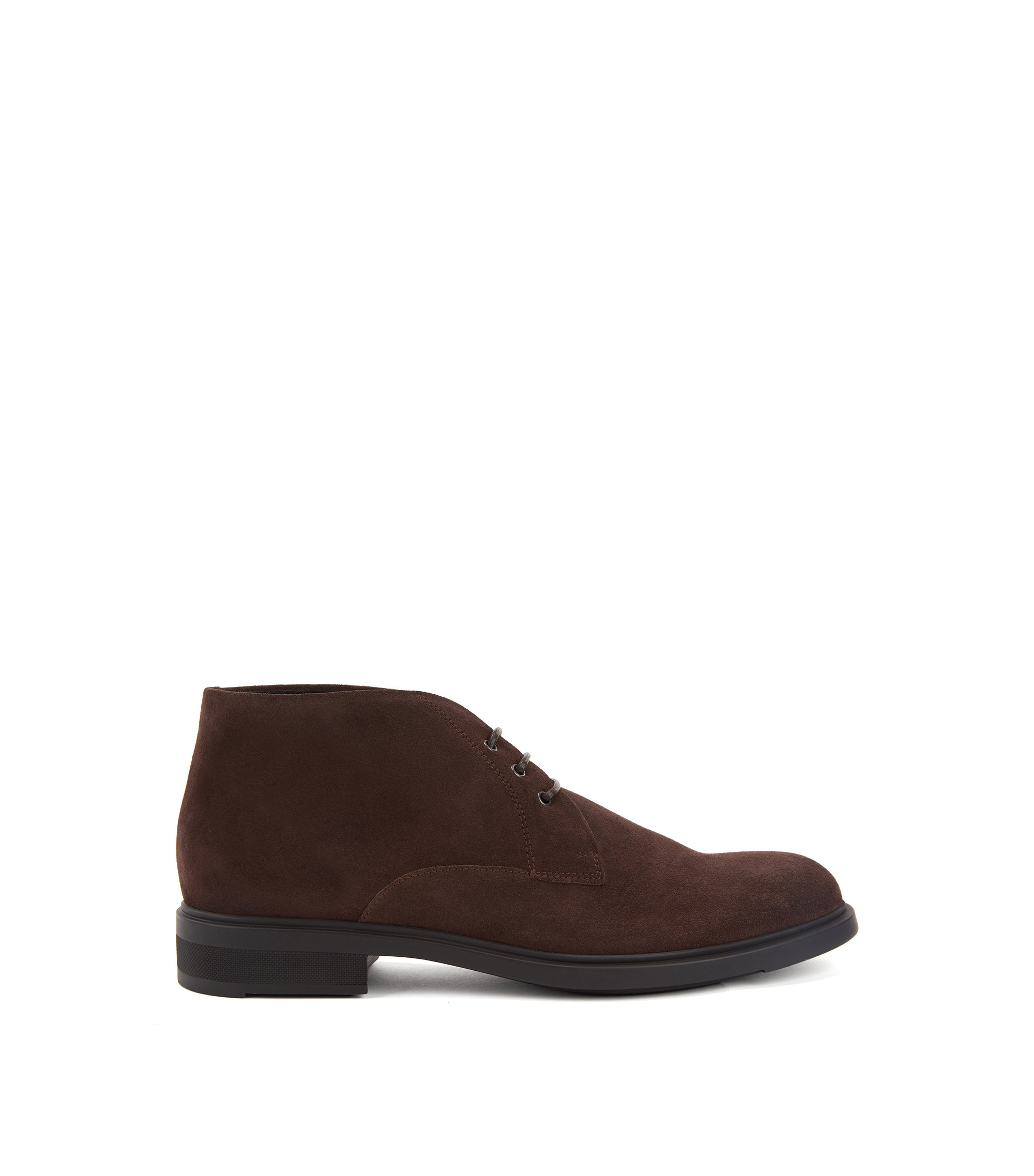 Desert boot in pelle scamosciata impermeabile con fodera interna Outlast®, Marrone scuro