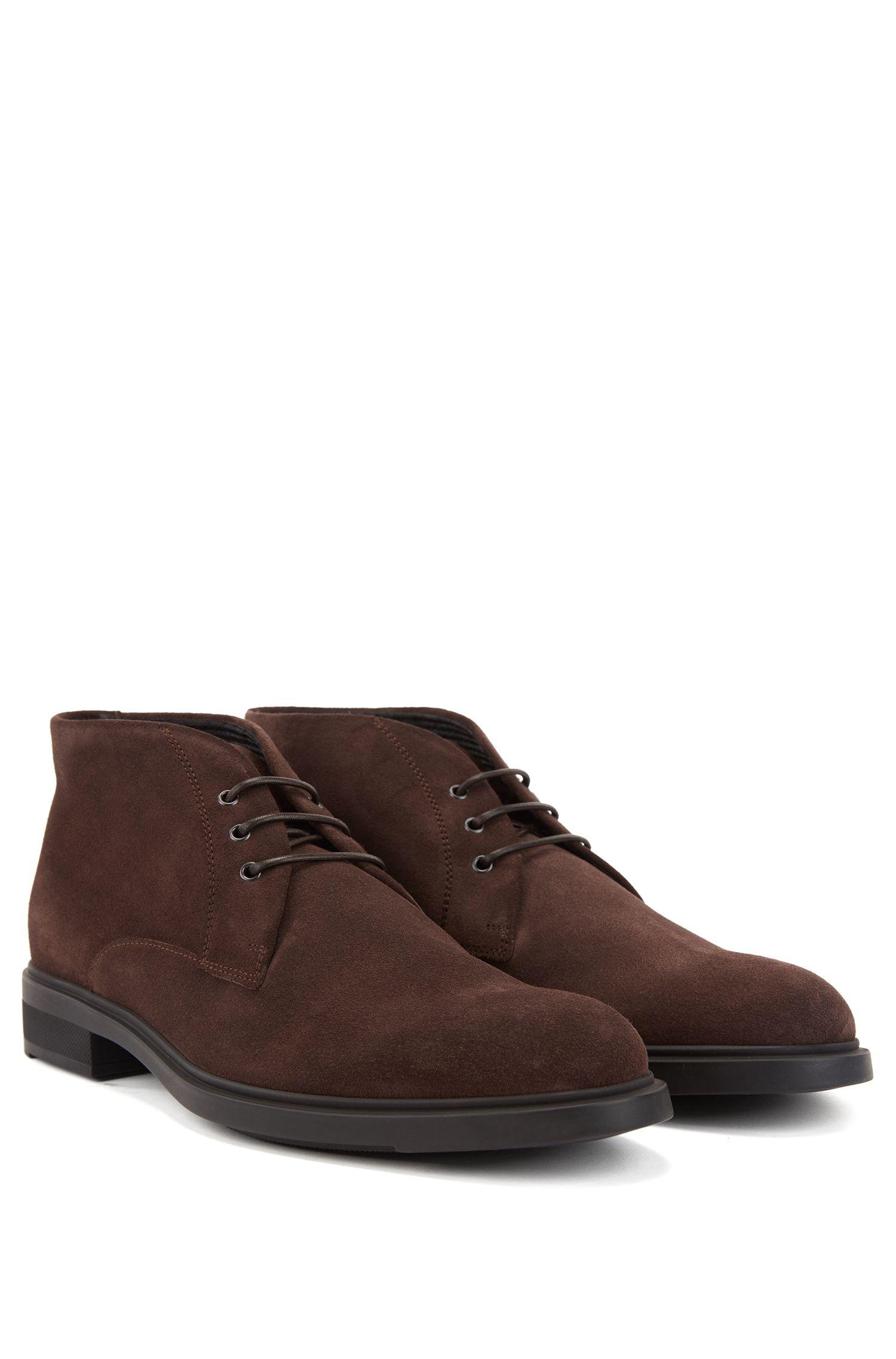Desert boots en cuir suédé imperméable avec doublure Outlast®, Marron foncé