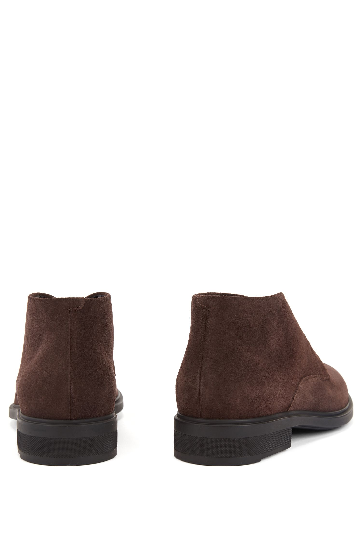 Desert boots in waterproof suede with Outlast® lining, Dark Brown