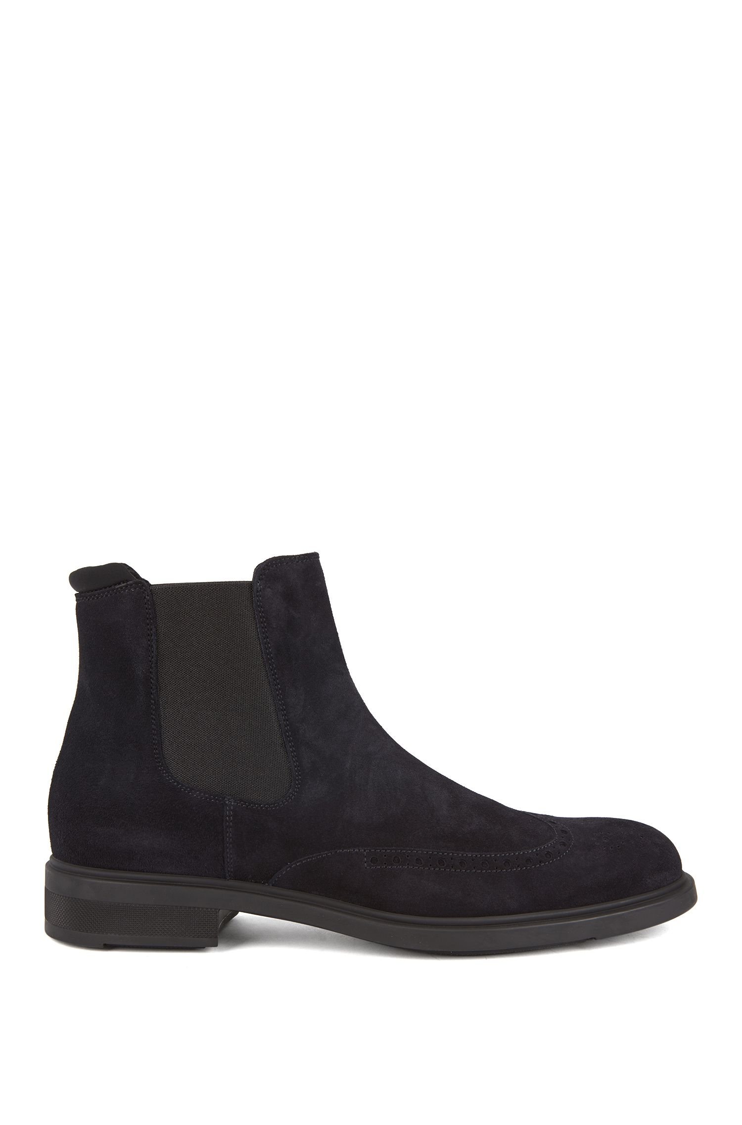 Chelsea boots in waterproof suede, Dark Blue