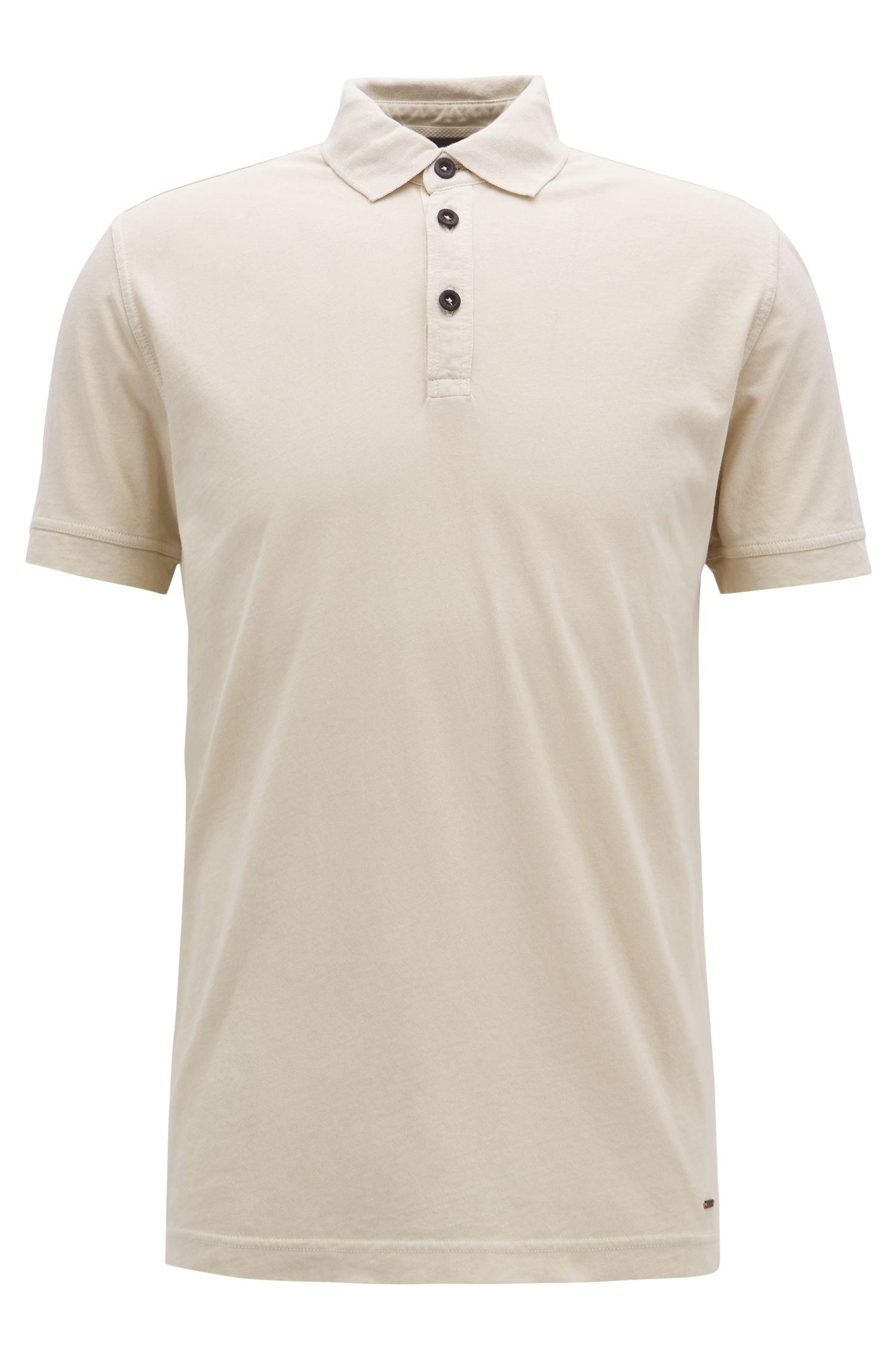 Relaxed-fit polo van recot²® katoenen jersey, Beige