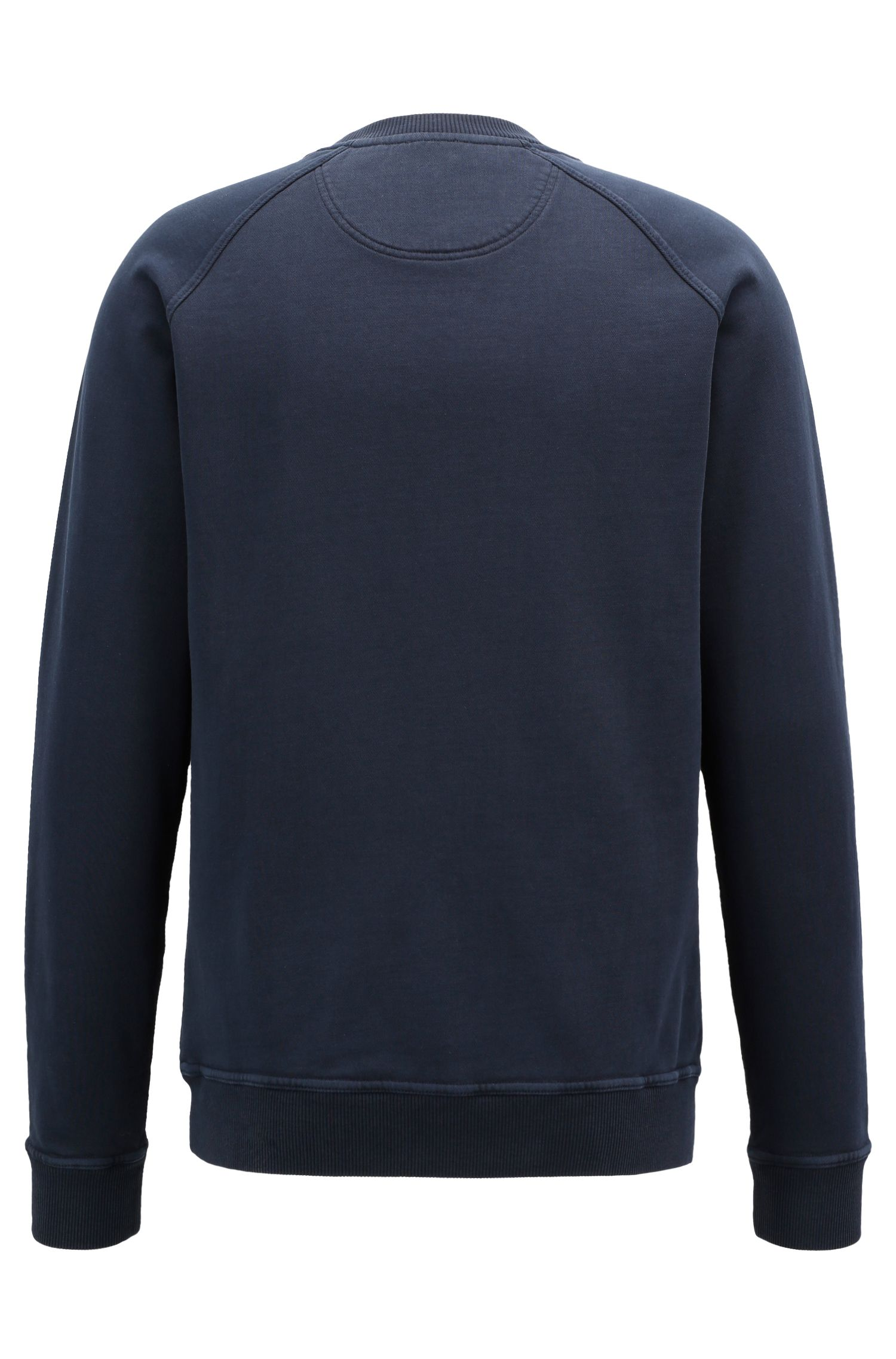 Sweat à col ras-du-cou en molleton French Terry recot²®, Bleu foncé