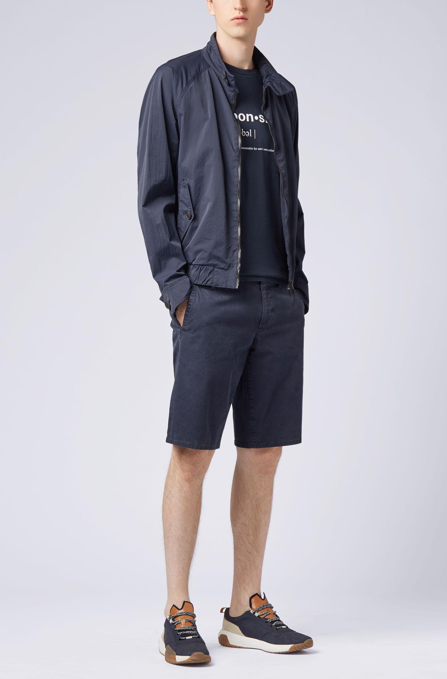 Relaxed-fit T-shirt van recot²® katoenen jersey met slogan, Donkerblauw