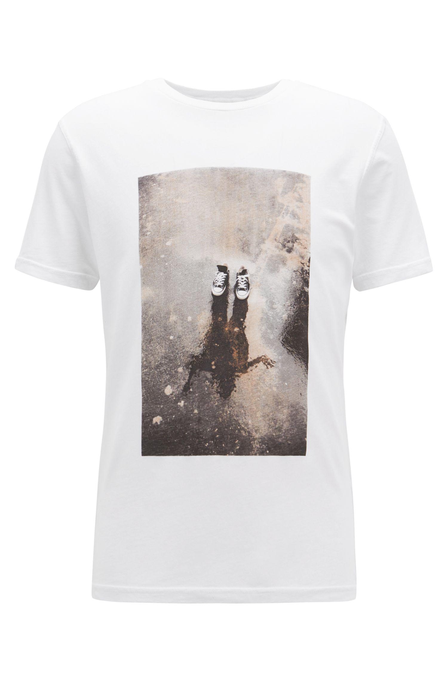 T-shirt graphique Relaxed Fit en jersey de coton recot²®, Blanc
