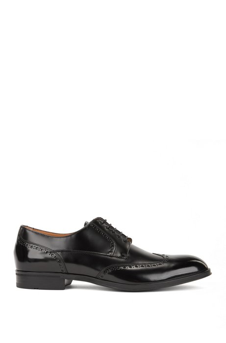 Derby brogues in brush-off calf leather BOSS Hf1XgB