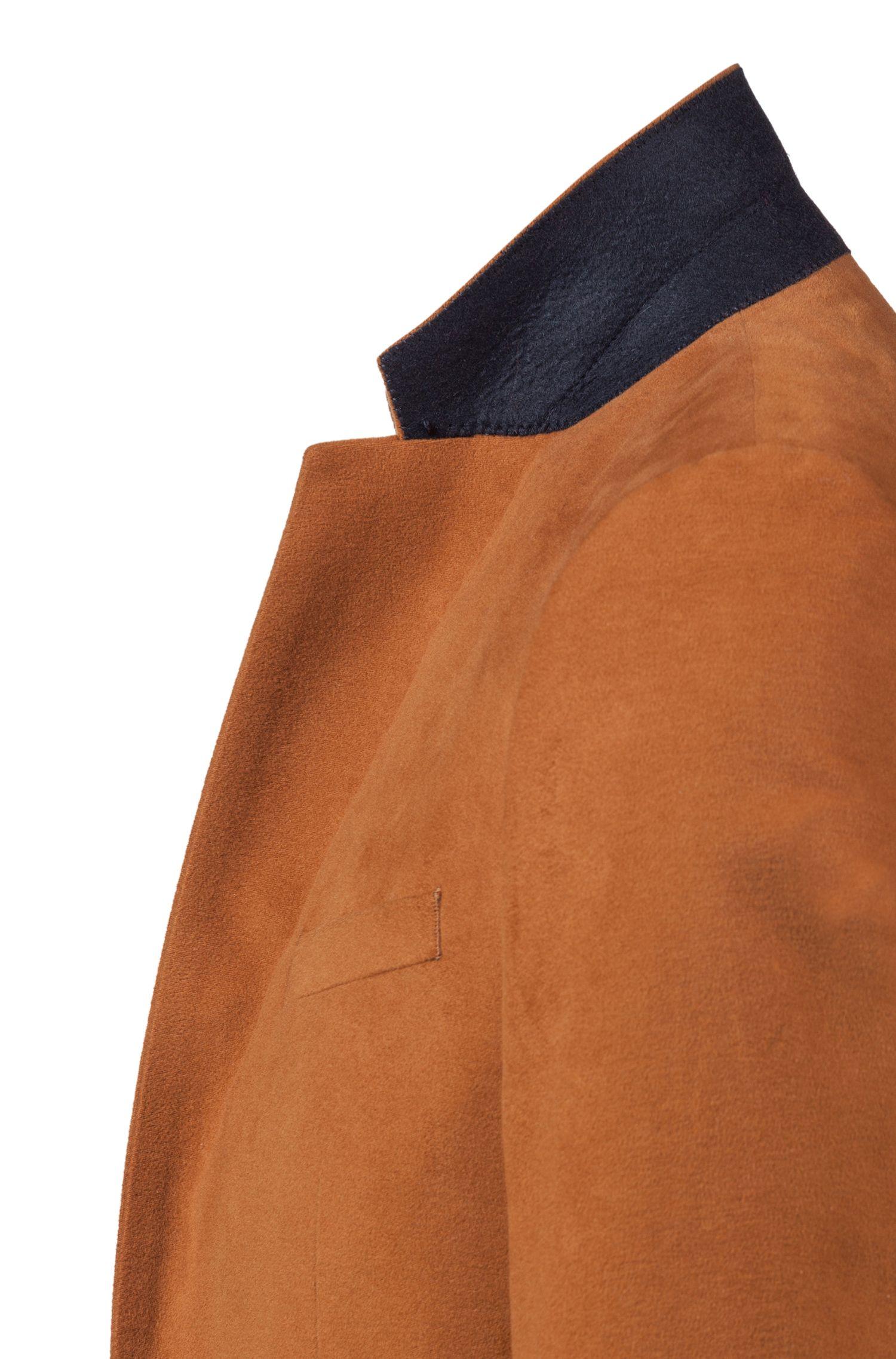 Costume Extra Slim Fit en moleskine, avec revers crantés, Marron