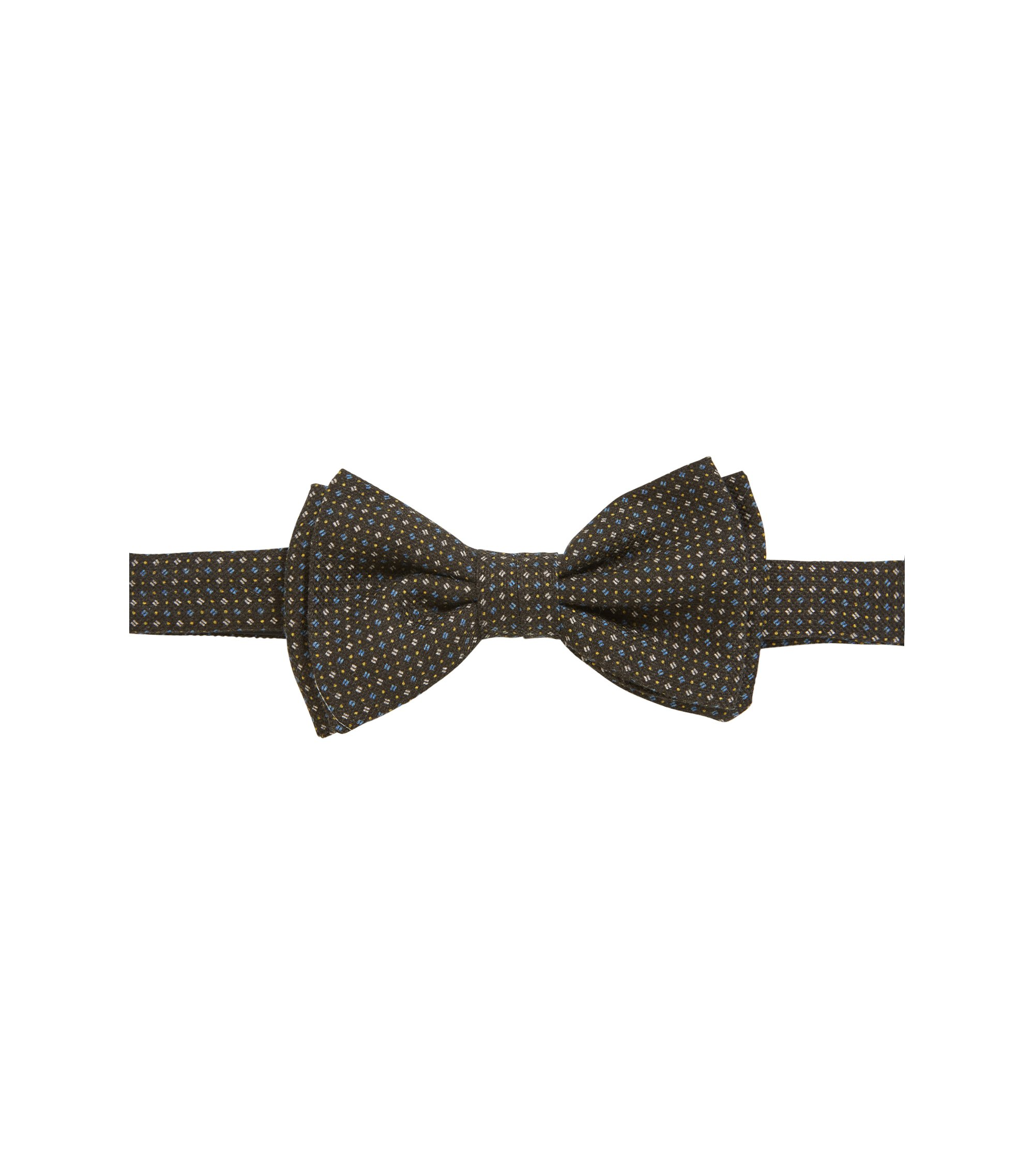 Micro-pattern bow tie in a cotton blend, Open Green