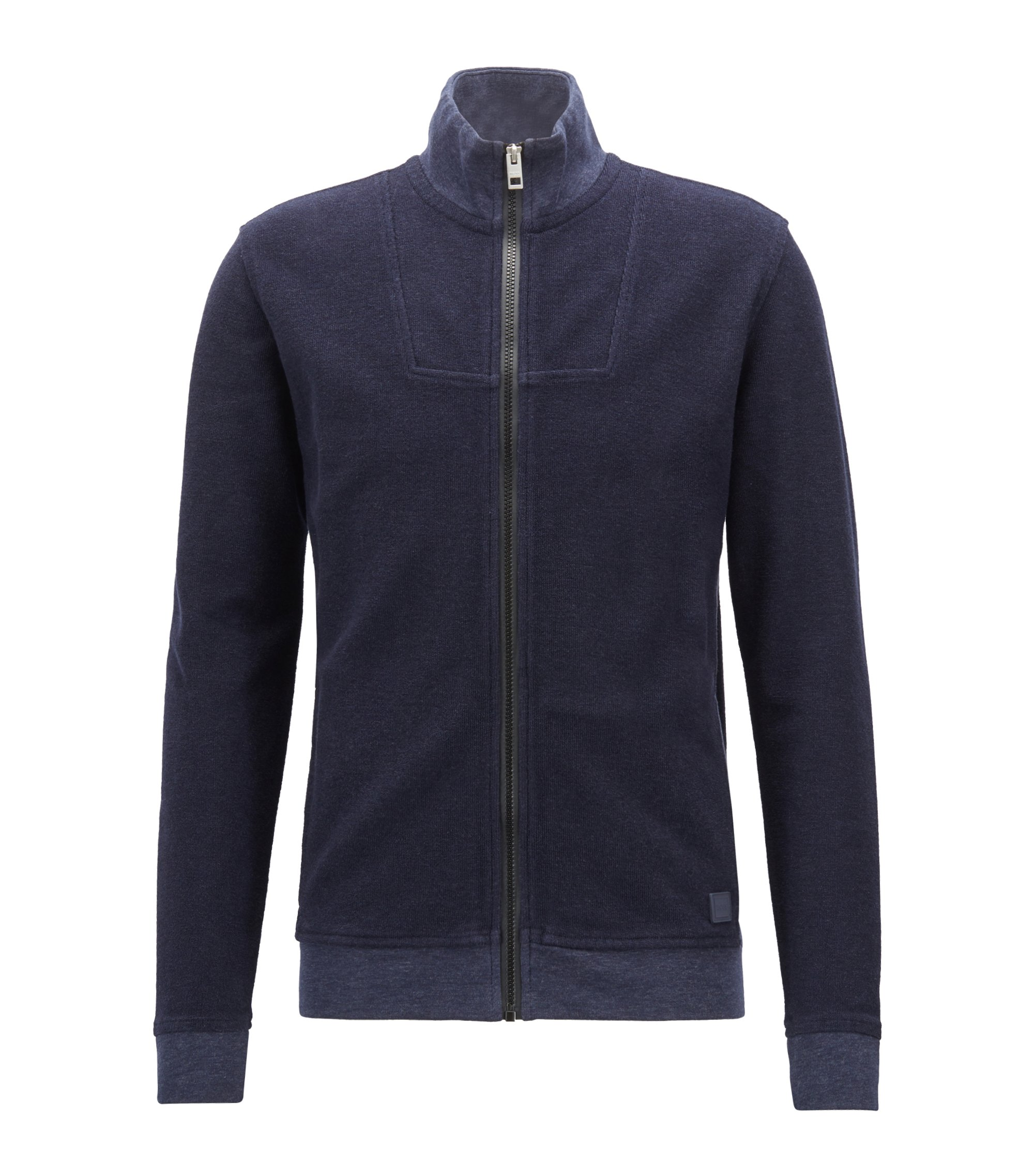 Giacca relaxed fit in spugna terry, Blu scuro