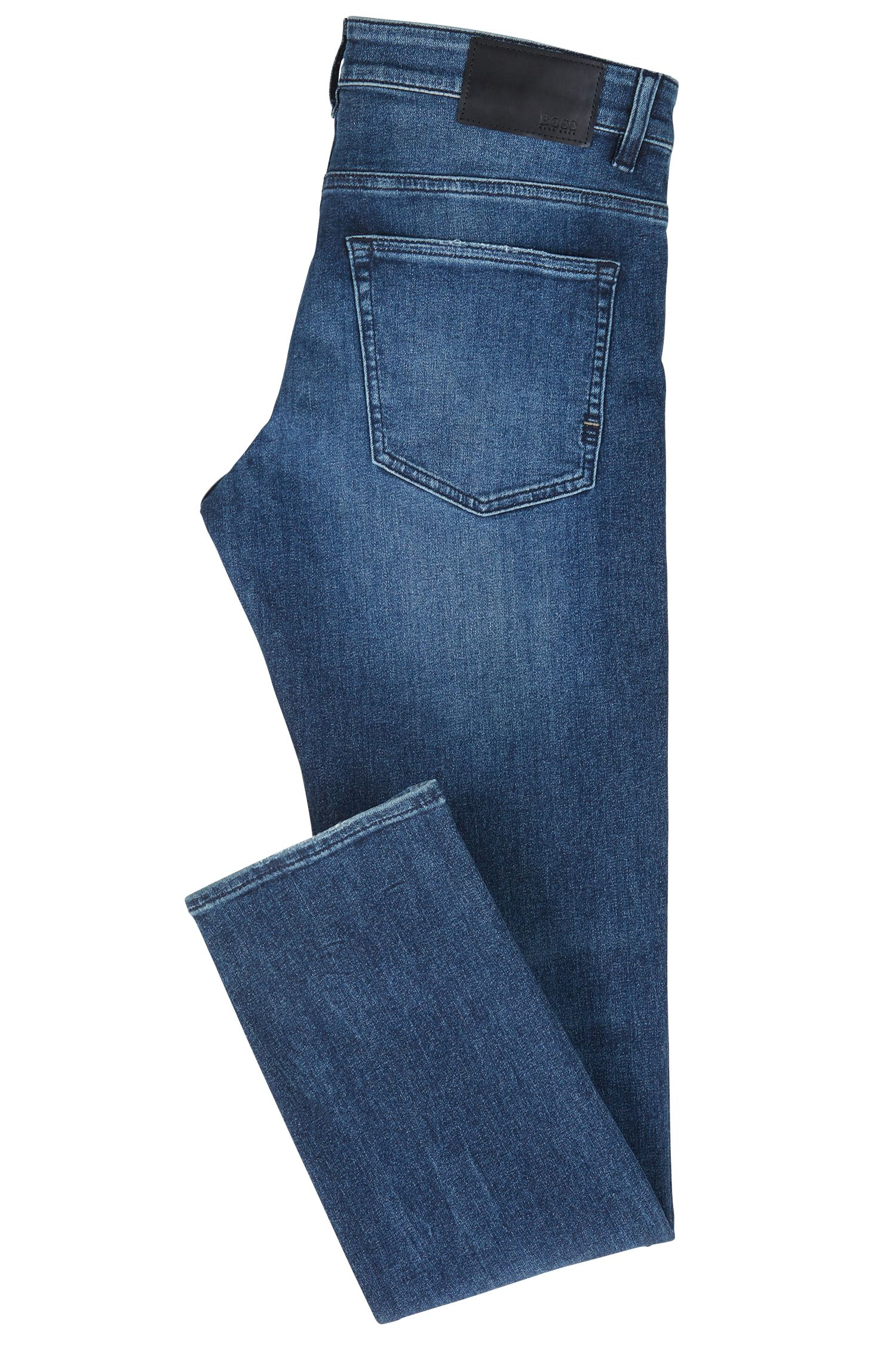 Jean Slim Fit en denim stretch recyclé, Bleu