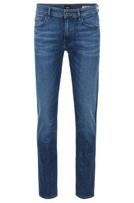 Slim-fit jeans in recycled stretch denim, Blue