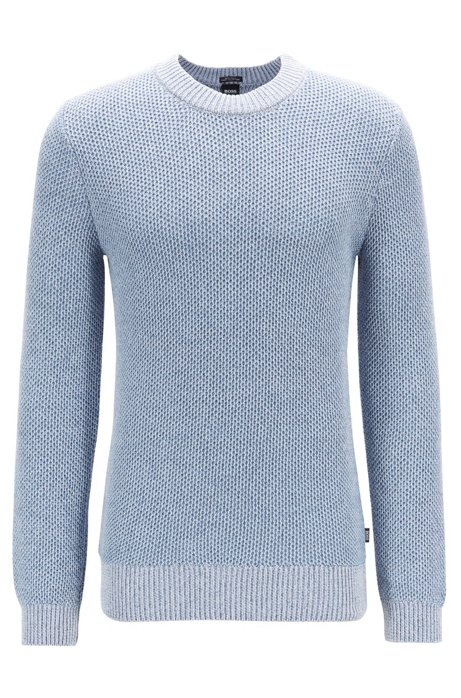 c97535ec2 BOSS - Regular-fit sweater in knitted mouliné cotton