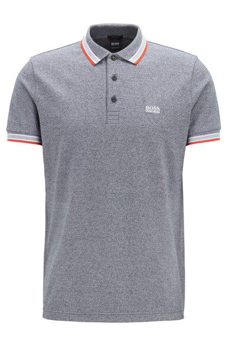 0db960c9 BOSS - Cotton-piqué polo shirt with logo undercollar