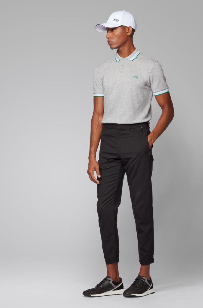 Polo en piqué de coton, avec logo au niveau du sous-col