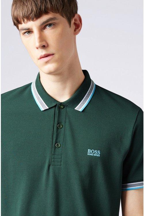 Hugo Boss - Polo de piqué de algodón con logo en el interior del cuello - 4