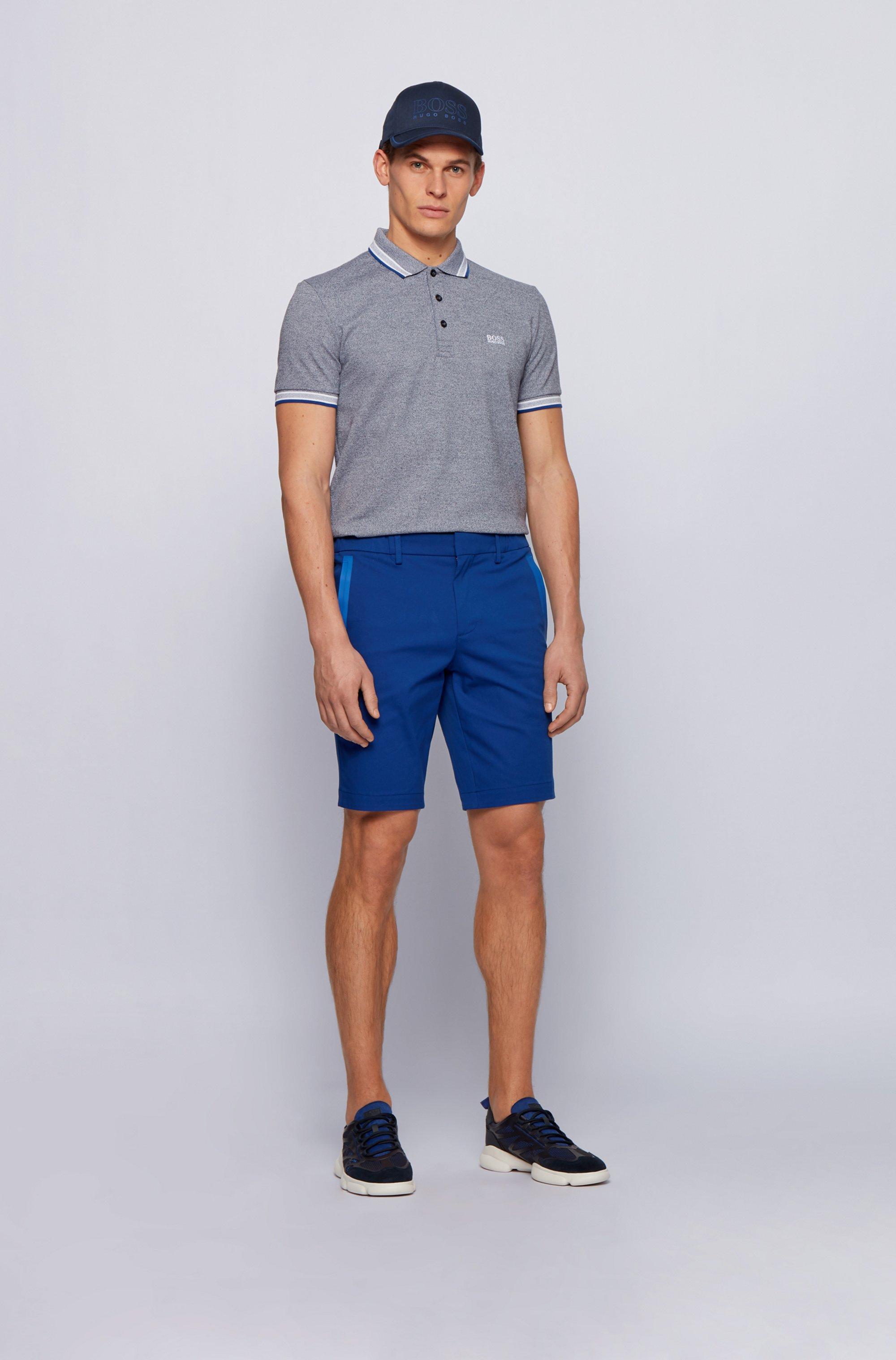 Cotton-piqué polo shirt with logo undercollar
