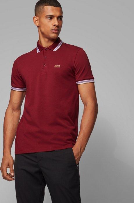 Poloshirt aus Baumwoll-Piqué mit Logo an der Kragenunterseite, Rot