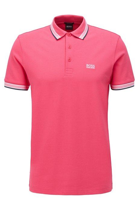 Polo de piqué de algodón con logo en el interior del cuello, Pink