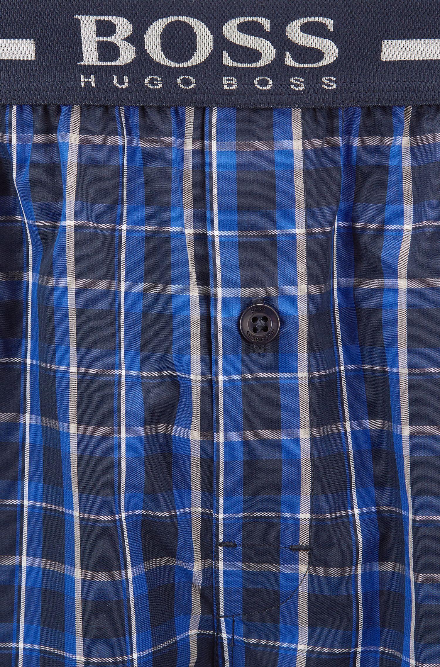 Paquete de dos shorts de pijama en popelín de algodón, Azul