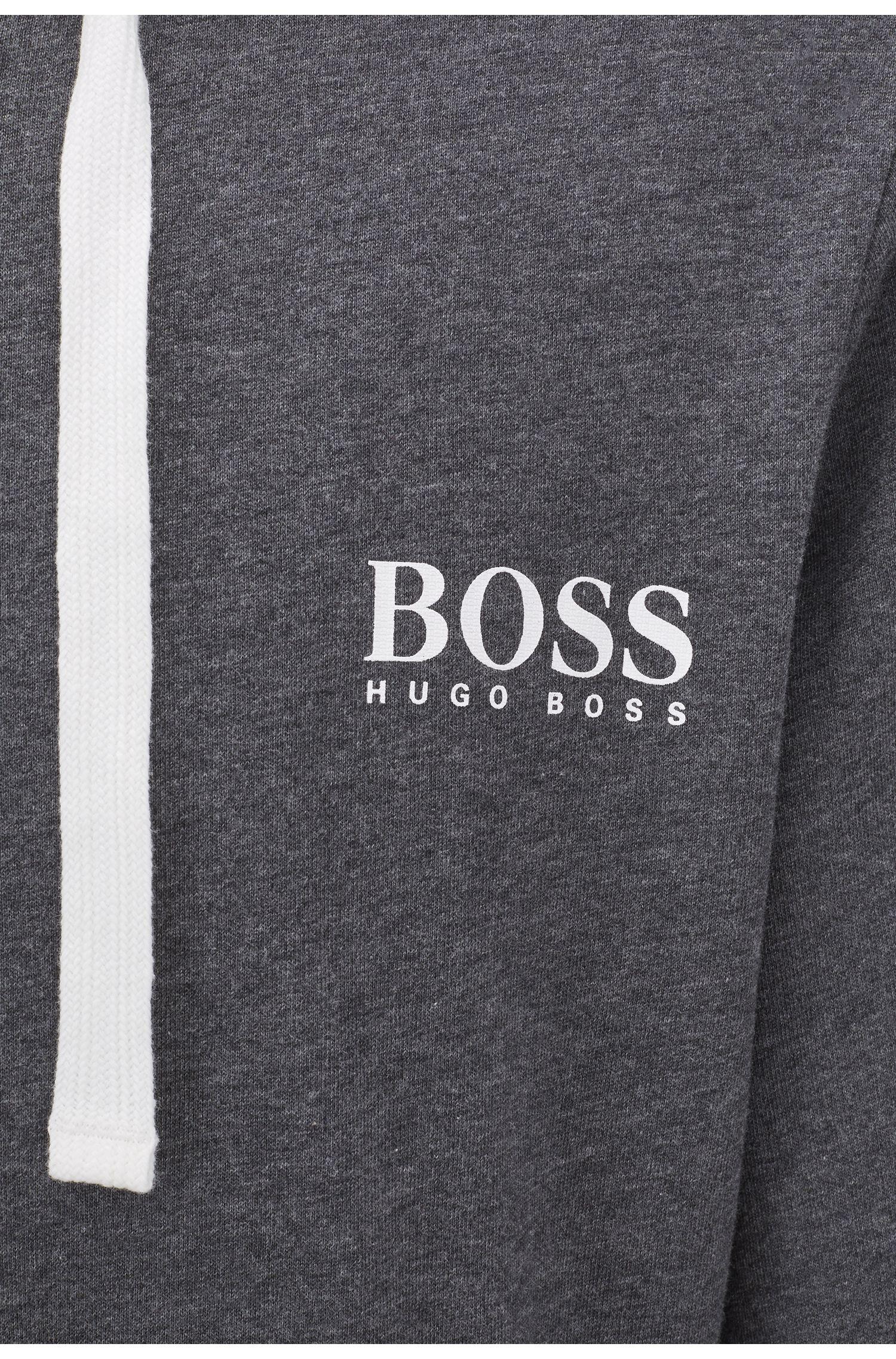 Loungewear-Jacke aus schwerem Jersey mit zweifarbigem Reißverschluss, Grau