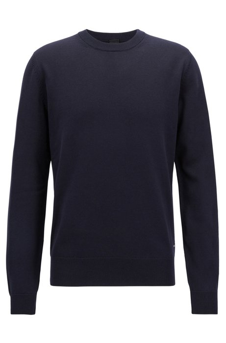 Clearance Shop For New Styles Cheap Price Crew-neck sweater in pure cotton BOSS Perfect Cheap Online VQqPnWBvmJ