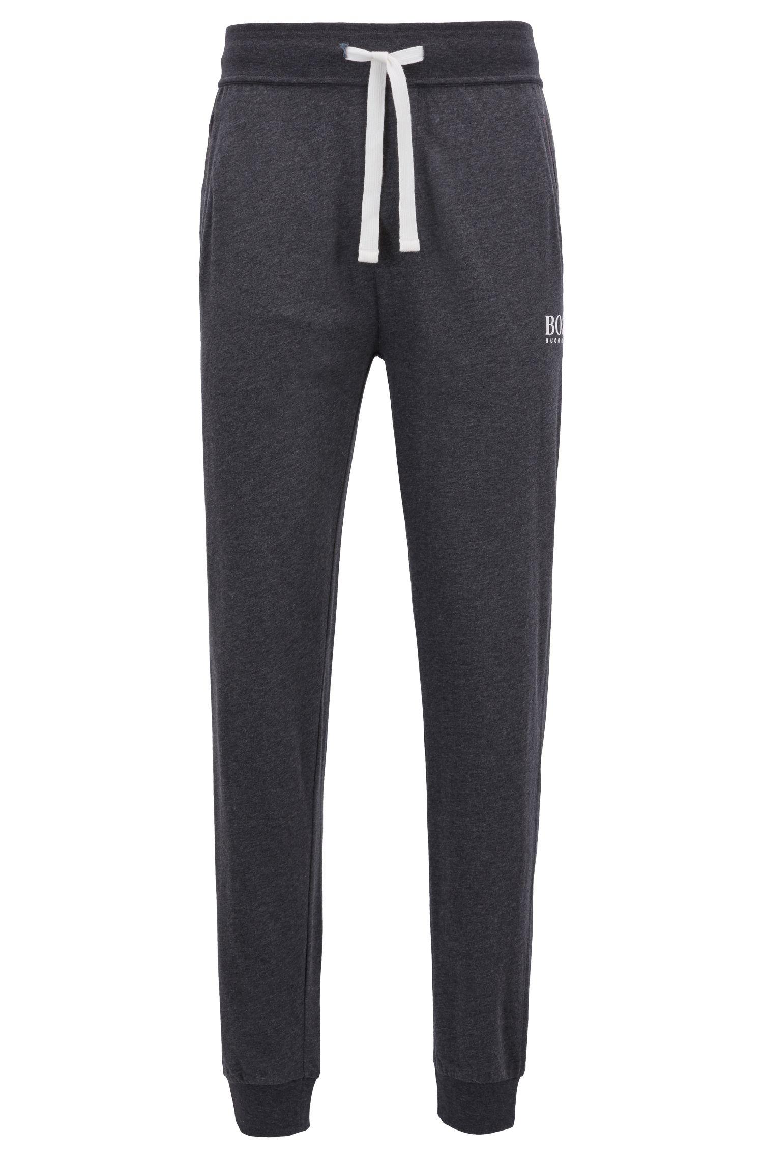 Pantalon d'intérieur resserré au bas des jambes, en jersey simple de coton lourd, Gris