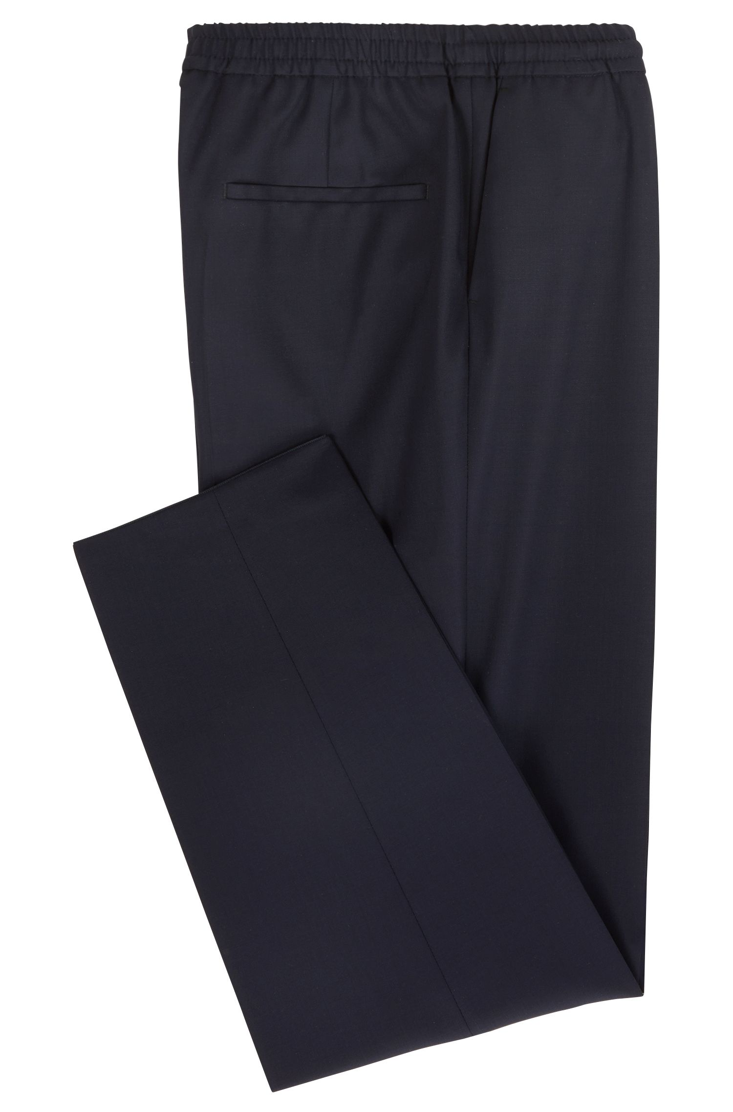 Slim-Fit Casual-Hose aus Schurwolle