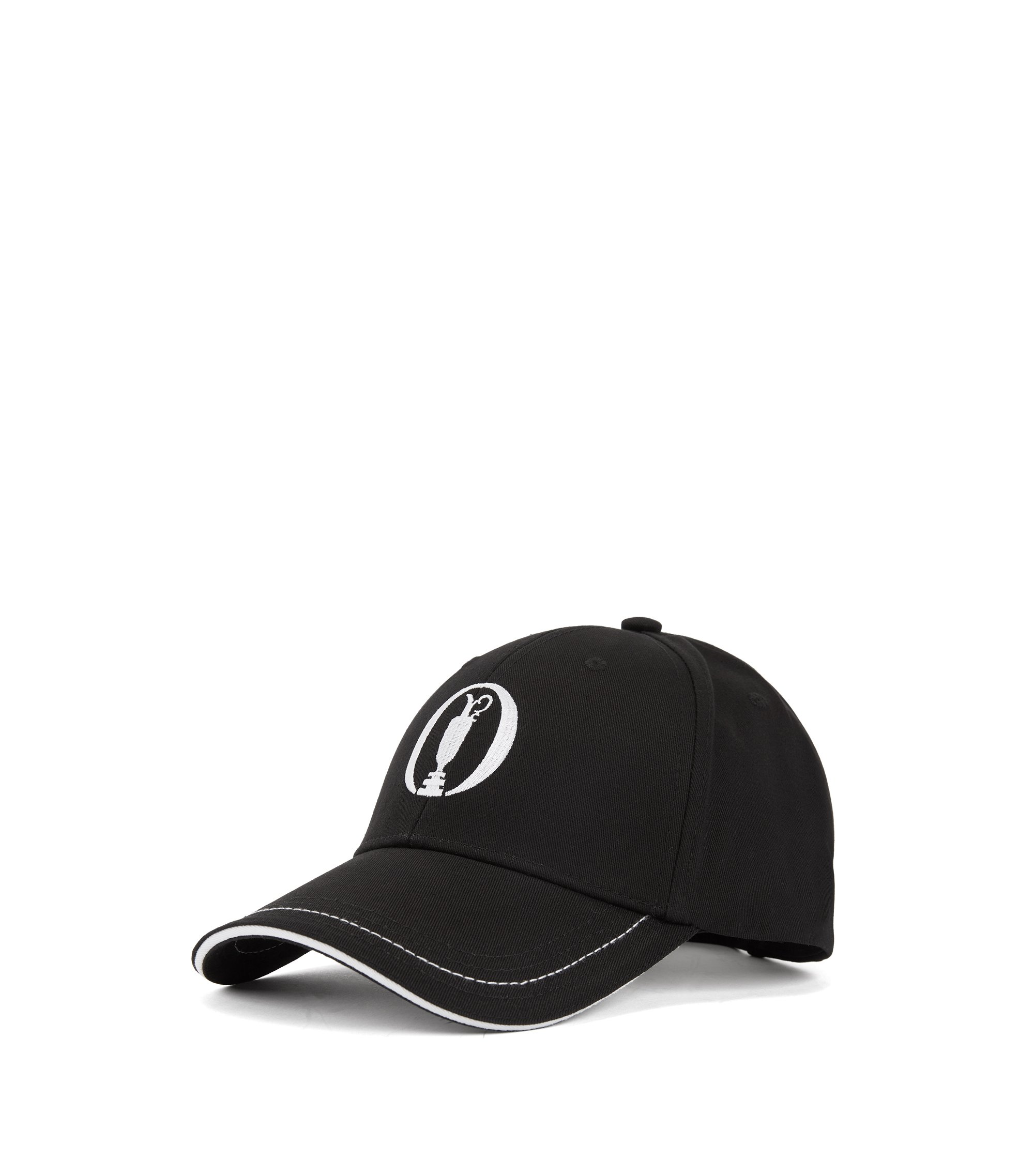 The Open Exclusive cap in cotton twill, Black