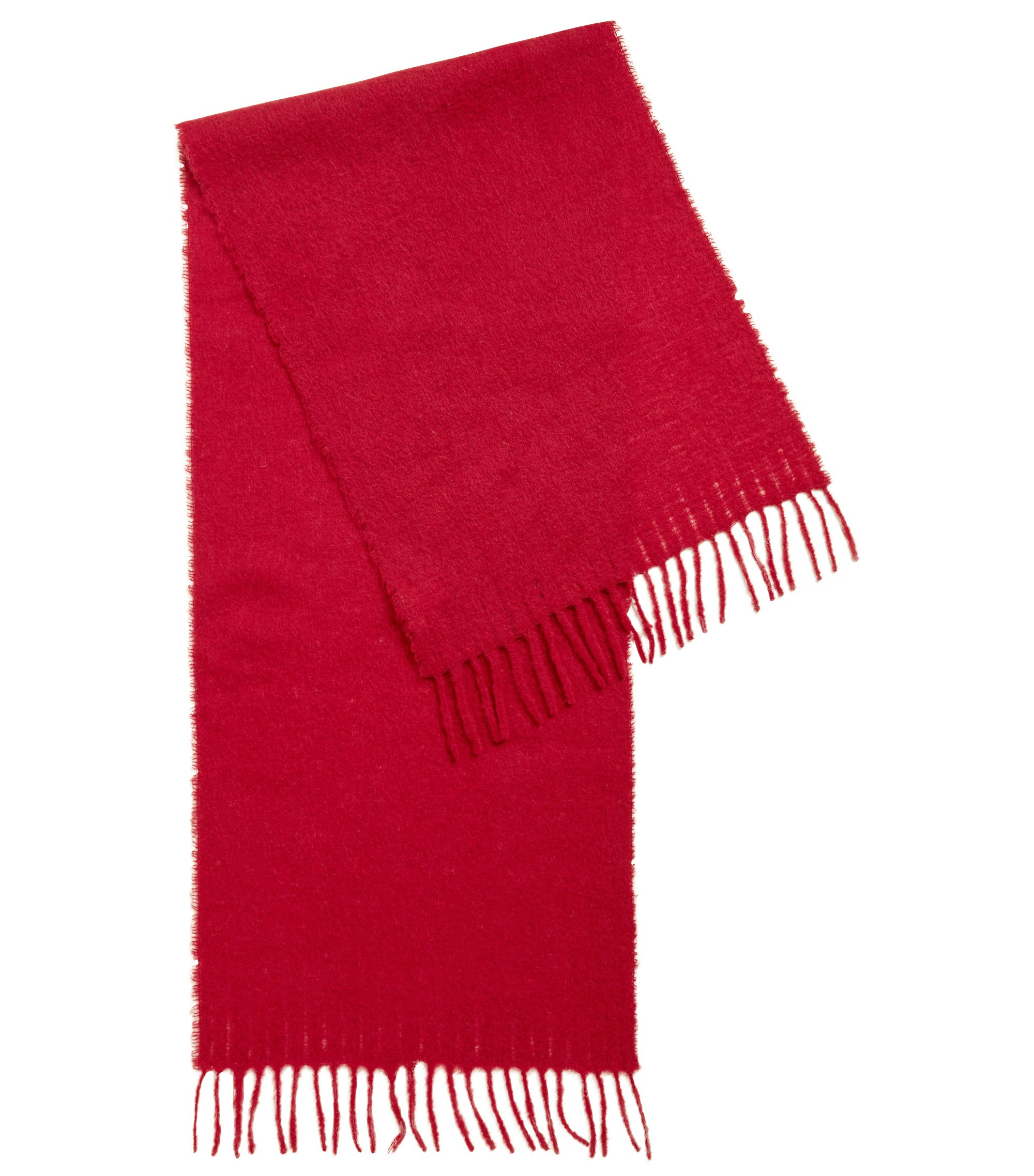 Blanket scarf in a brushed yarn blend, Dark Red