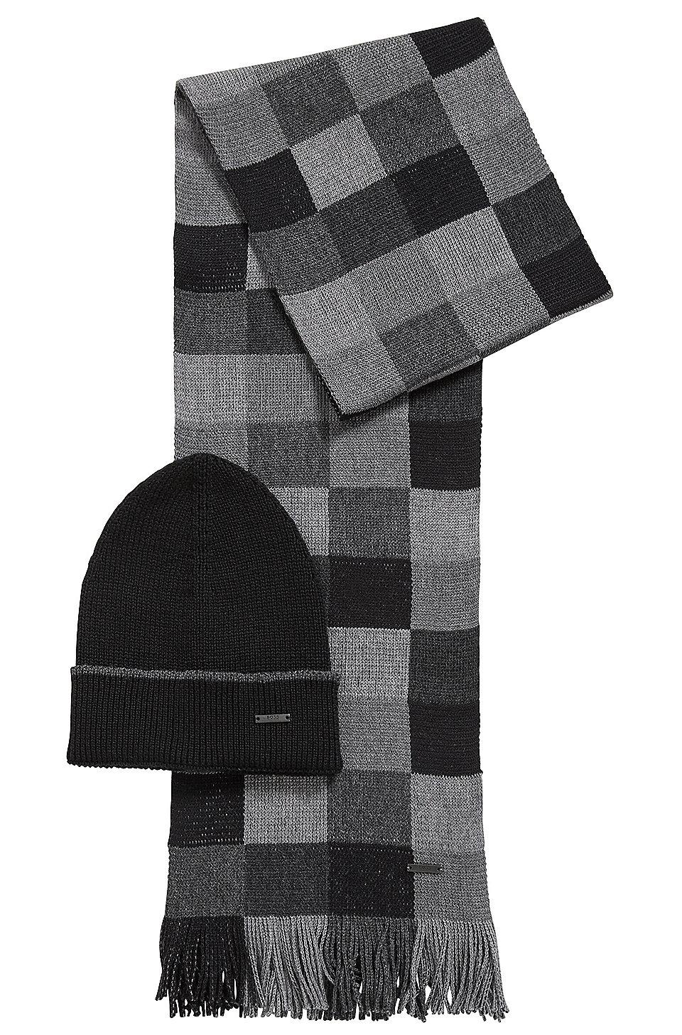 1ae0a379458 BOSS - Coffret cadeau avec écharpe et bonnet