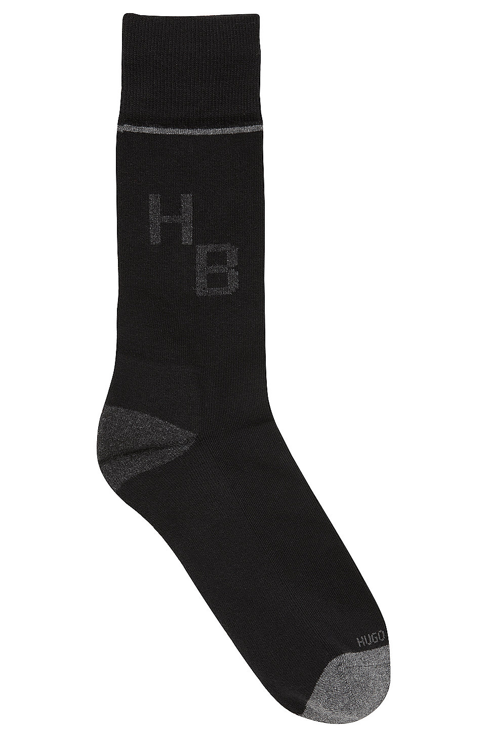 boss mittelhohe socken aus elastischem baumwoll mix mit monogramm. Black Bedroom Furniture Sets. Home Design Ideas