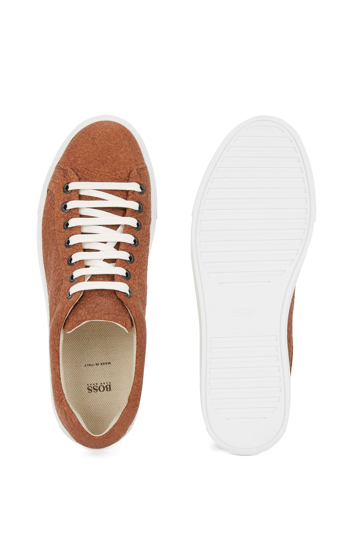 Limited-edition 100% vegan trainers in Piñatex®, Brown
