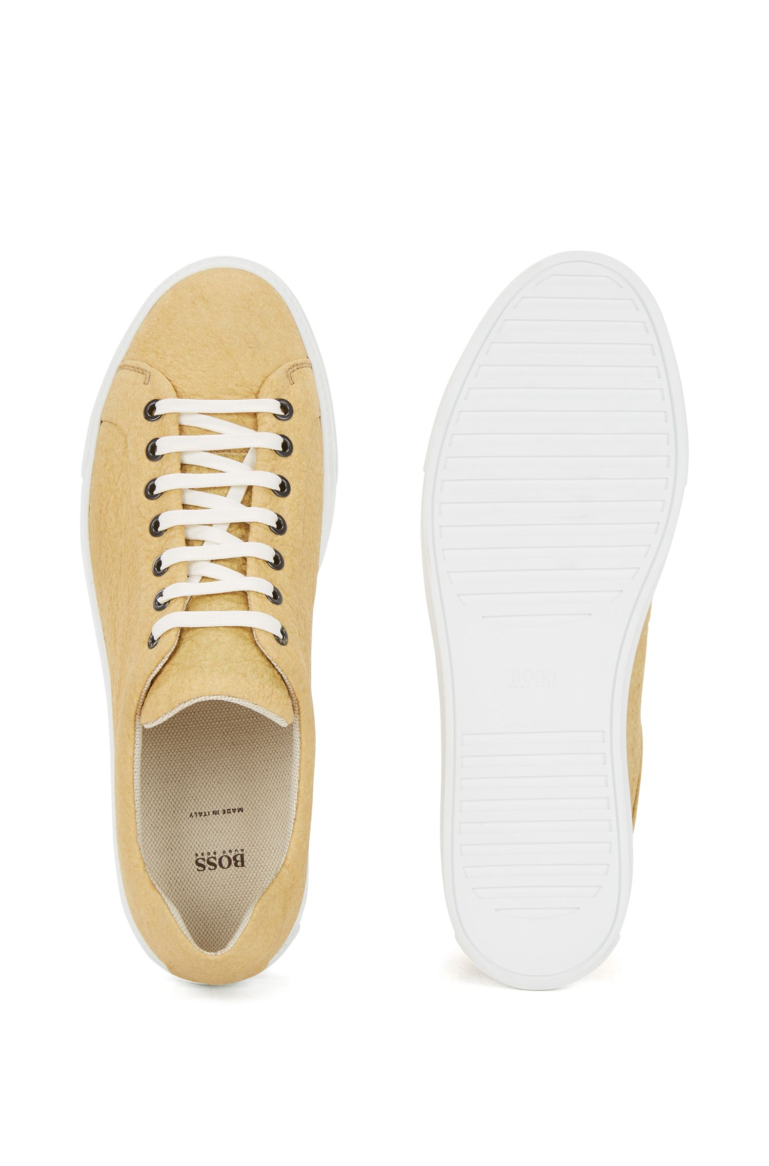 Limited-edition 100% vegan trainers in Piñatex®, Yellow