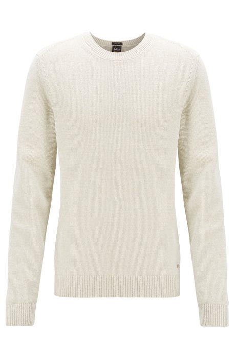 BOSS - Maglione a maglia piana in ciniglia di cotone realizzata in ...