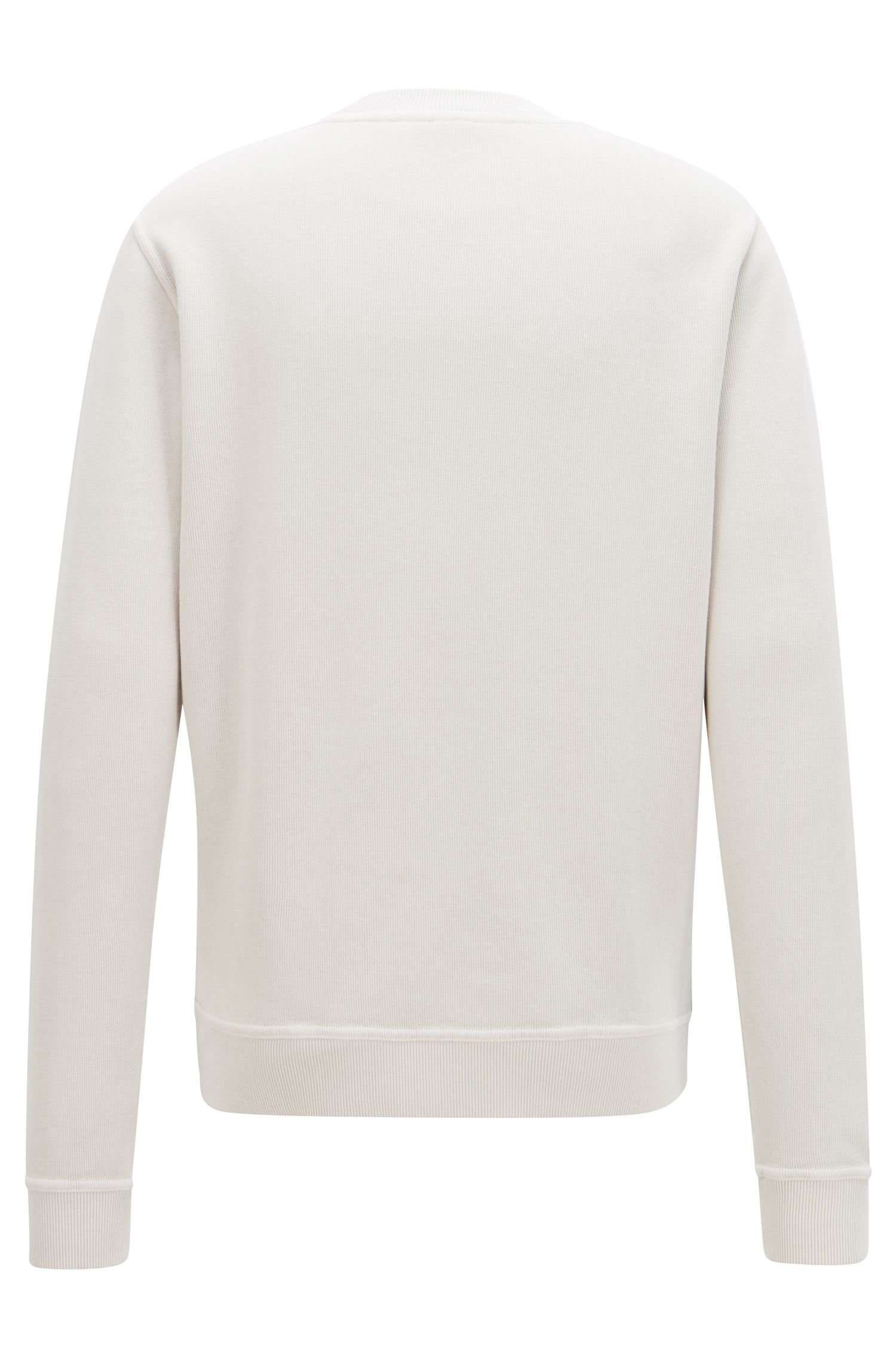 Relaxed-fit French-rib sweatshirt with transparent logo, Grey