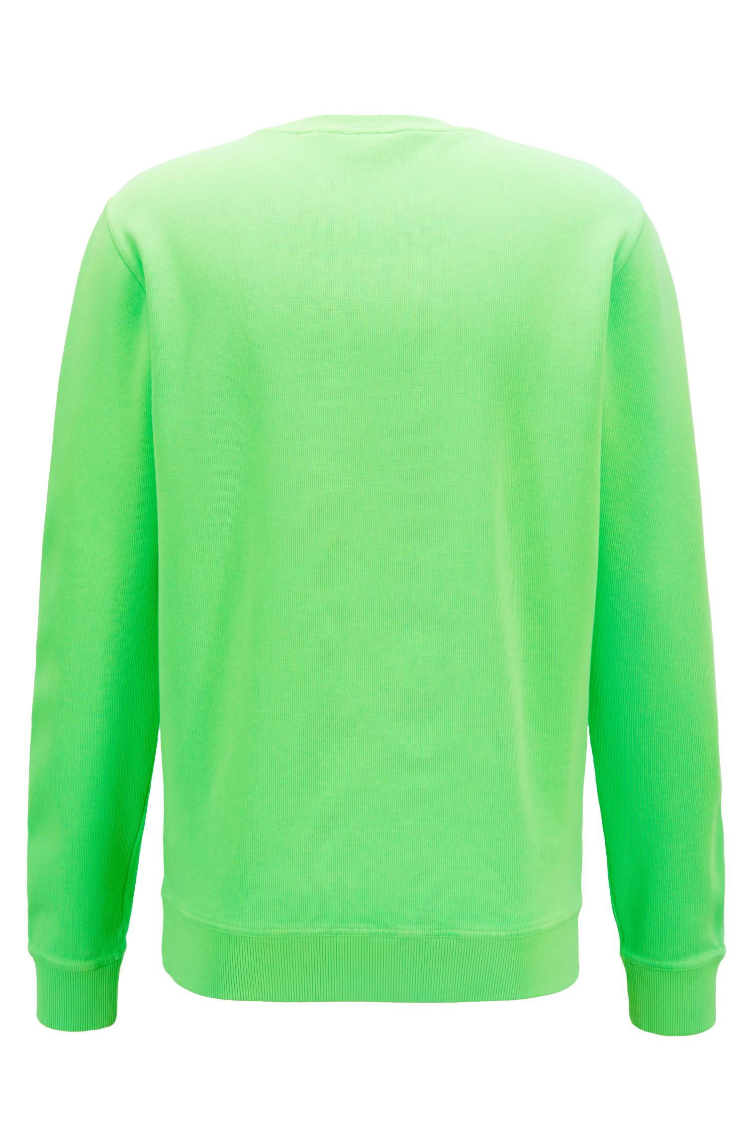 Relaxed-fit French-rib sweatshirt with transparent logo, Green
