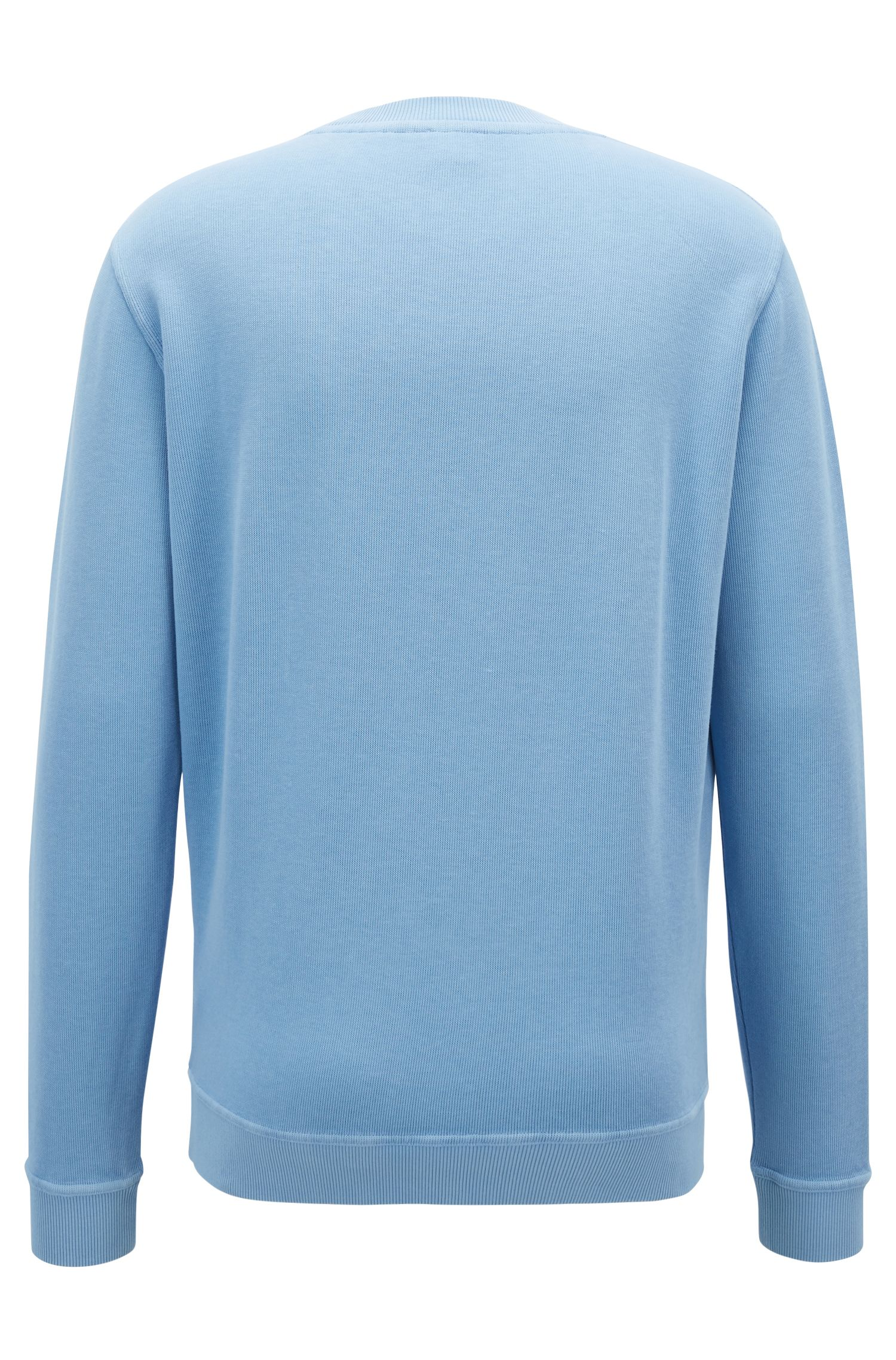 Un sweat Relaxed Fit côtelé à logo transparent, Bleu vif