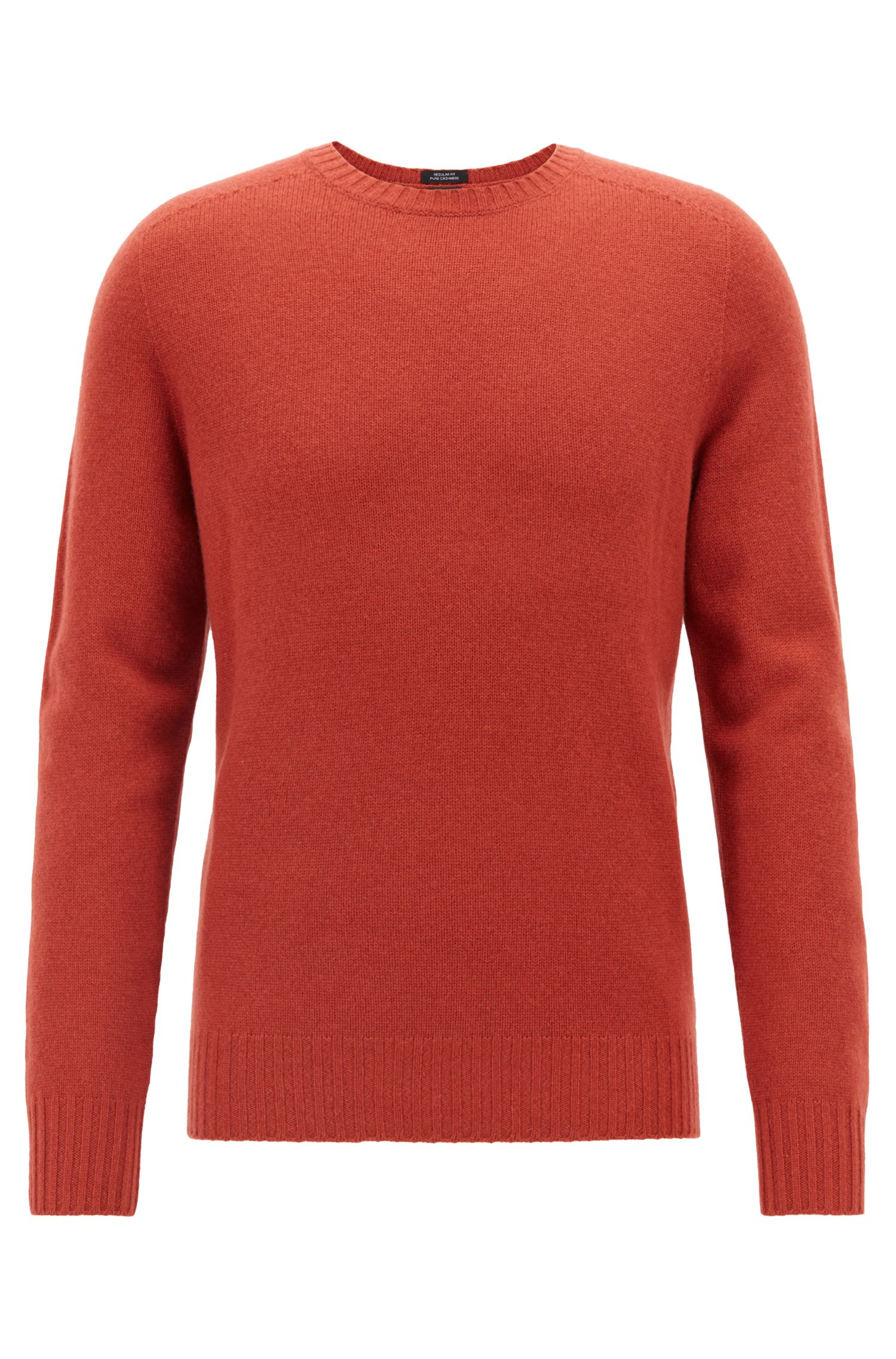 Cashmere sweater with seam-free design, Dark Red