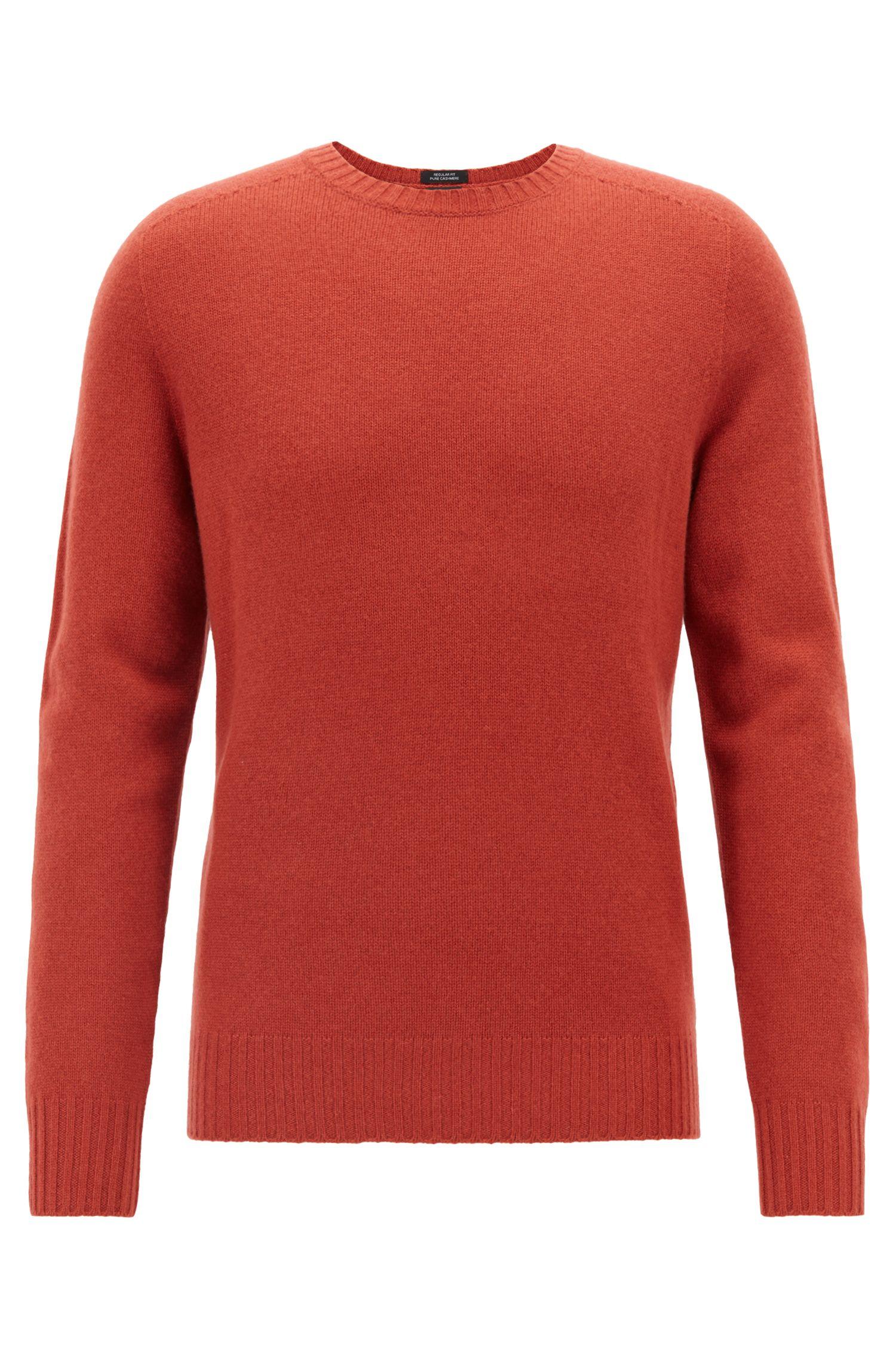 Cashmere sweater with seam-free design, Dark Red
