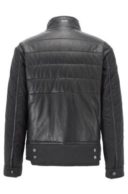 42abf3de13f HUGO BOSS | Leather Jackets for Men | Premium Lambskin Jackets