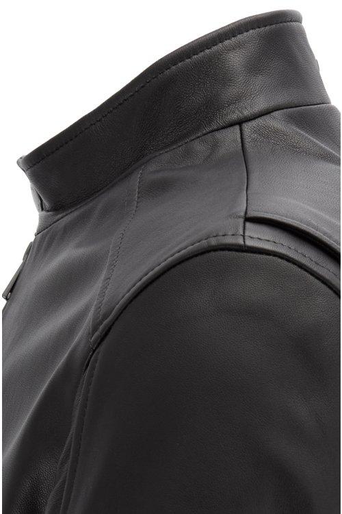 Hugo Boss - Cazadora regular fit en napa de piel de cordero - 4