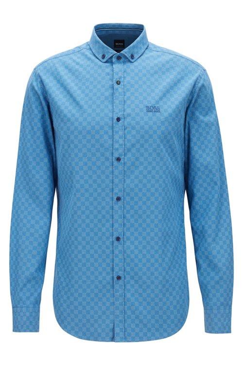 Hugo Boss - Camisa slim fit de algodón elástico con logo estampado - 1