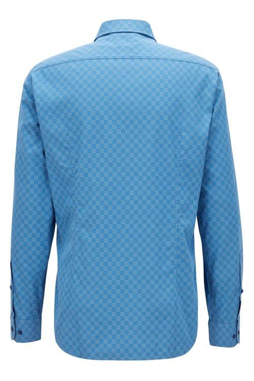 Hugo Boss - Camisa slim fit de algodón elástico con logo estampado - 3