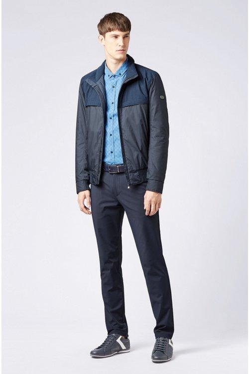 Hugo Boss - Camisa slim fit de algodón elástico con logo estampado - 2